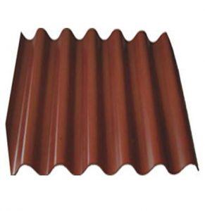 Шифер 6-ми волновой шоколадный