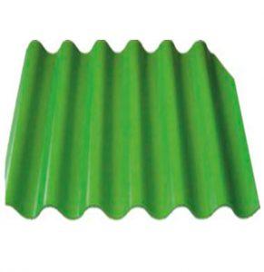 Шифер 6-ми волновой зелёный
