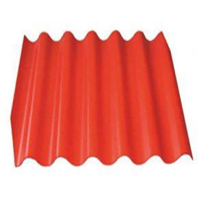 Шифер 6-ми волновой красный
